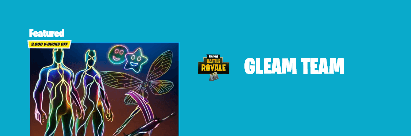 Fortnite introduces Gleam Team Bundle skin options