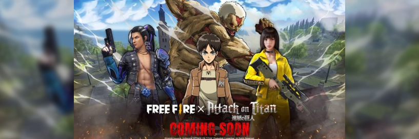 Free Fire to enter Global Collaboration with Attack on Titan