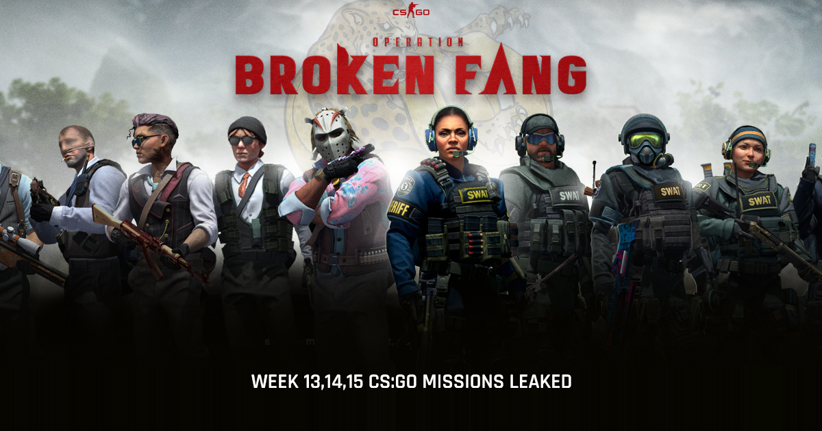 CS:GO Operation Broken Fang: Week 13, 14, 15 Missions Leaked