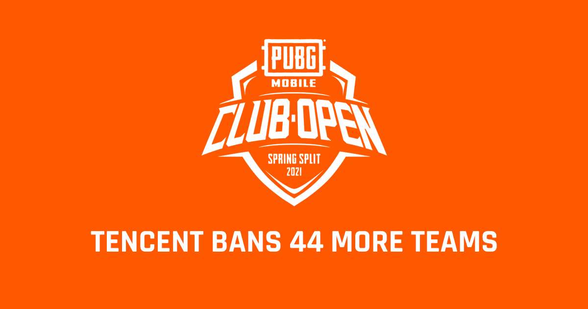 Tencent bans 44 more teams for cheating in PMCO Spring Split 2021