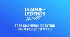 Wild Rift Free Champion Rotation