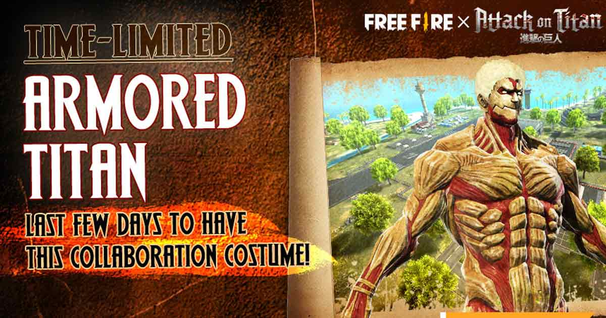 Free Fire introduces time-limited Armored Titan skin to item shop