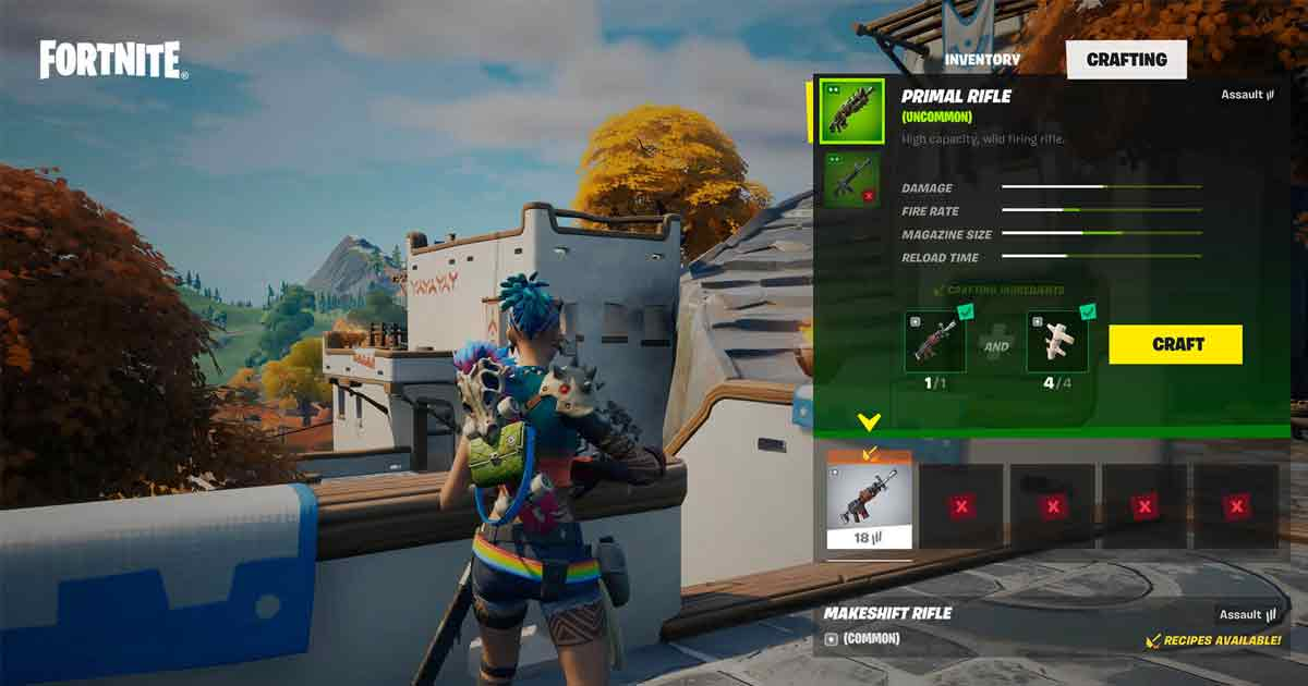 Prime Survival: Crafting Guide in Fortnite