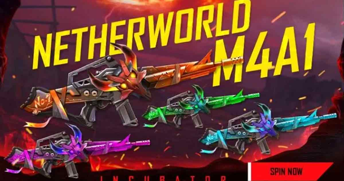 Free Fire to introduce its Latest Netherworld M4A1 Incubator this Month