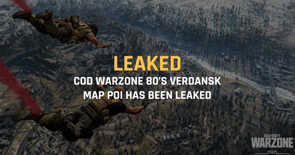 Warzone 80's Verdansk map