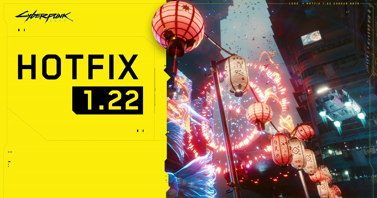 Cyberpunk 2077 Hotfix 1.22 is now live: Full Patch Notes here