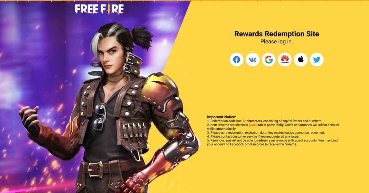 Garena Releases Free Fire Redeem Codes for Americas