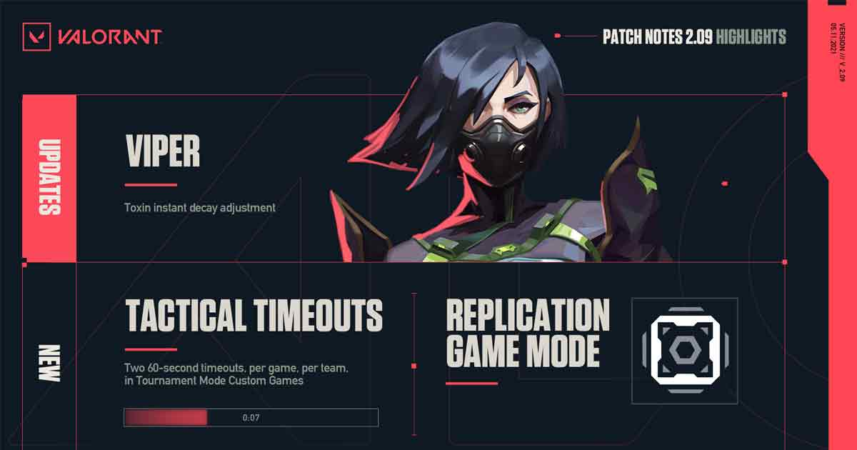 Riot Games introduces Valorant Patch 2.09 Note Updates