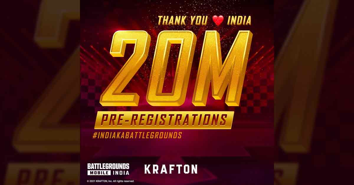 Battlegrounds Mobile India crosses 20 Million Pre-registrations in 2 Weeks