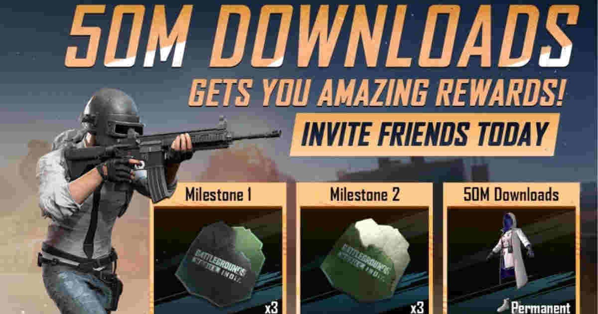BGMI announces 50 Million download rewards, teases iOS app release