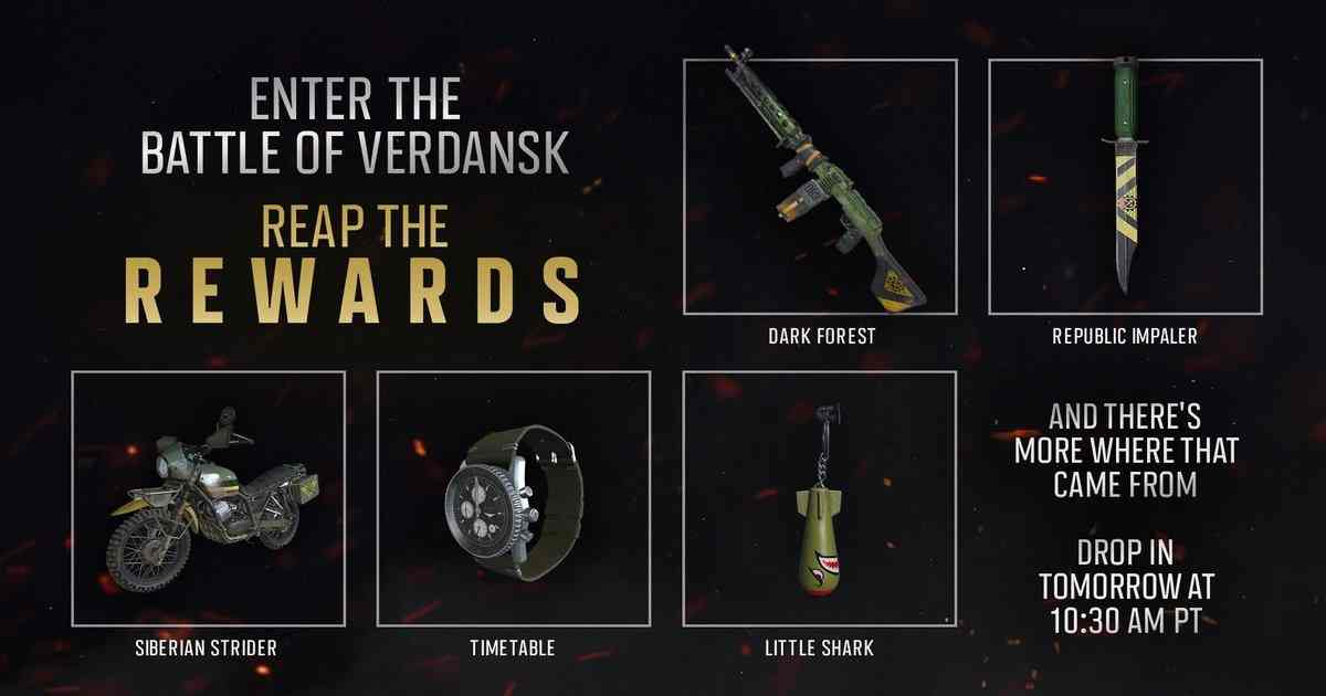 Battle of Verdansk rewards