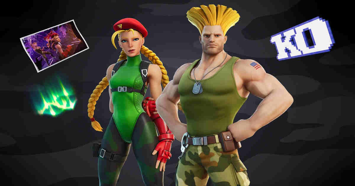Cammy and Guile Fortnite
