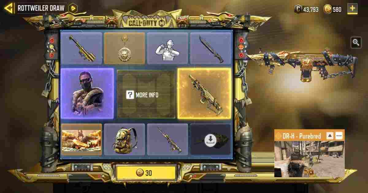 CoD Mobile Rottweiler Lucky Draw