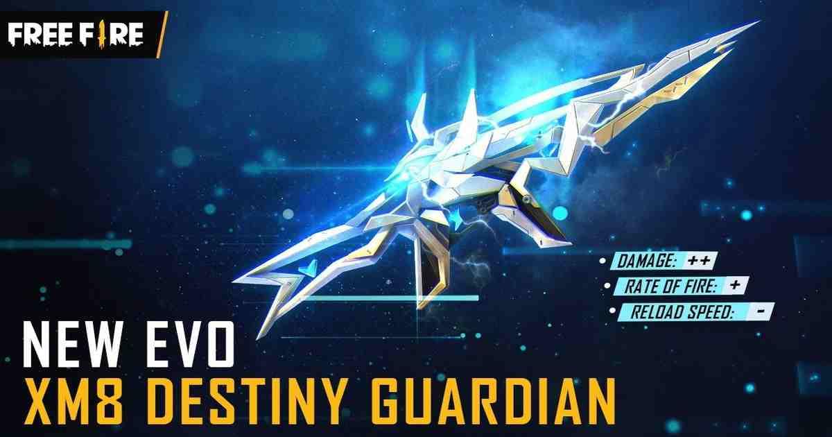 The Destiny Guardian XM8 Evo Gun skin arrives in Free Fire