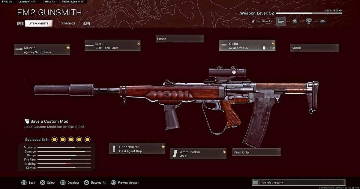 CoD Season Five weapons