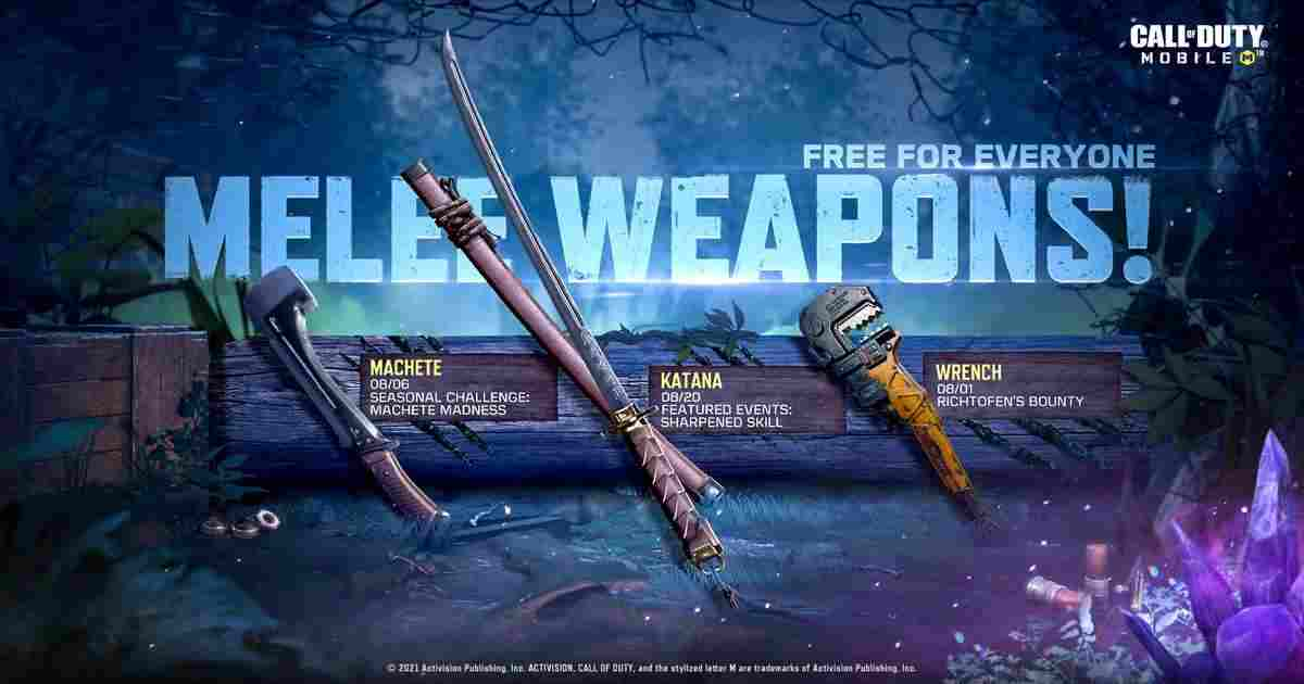 CoD Mobile Melee weapons