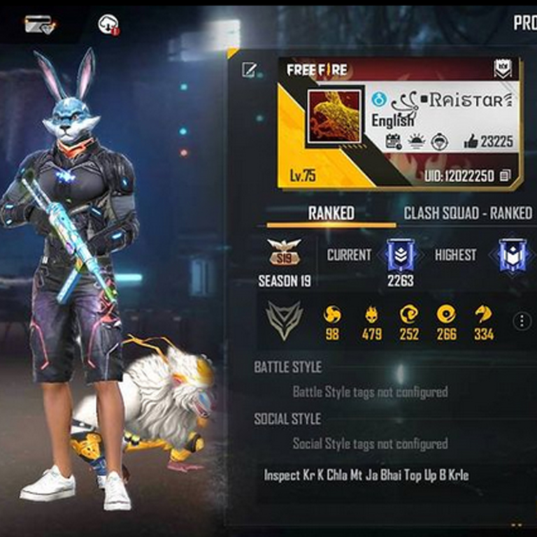 Best Free Fire players India